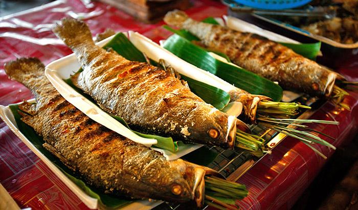 Cá nướng người Thái Lai Châu