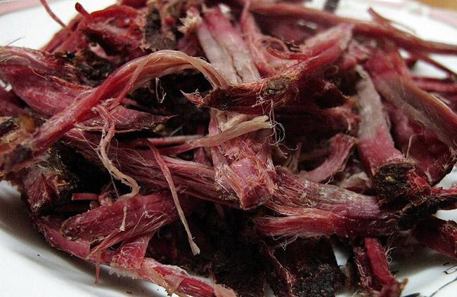 Thịt trâu khô (Trâu gác bếp) Sơn La