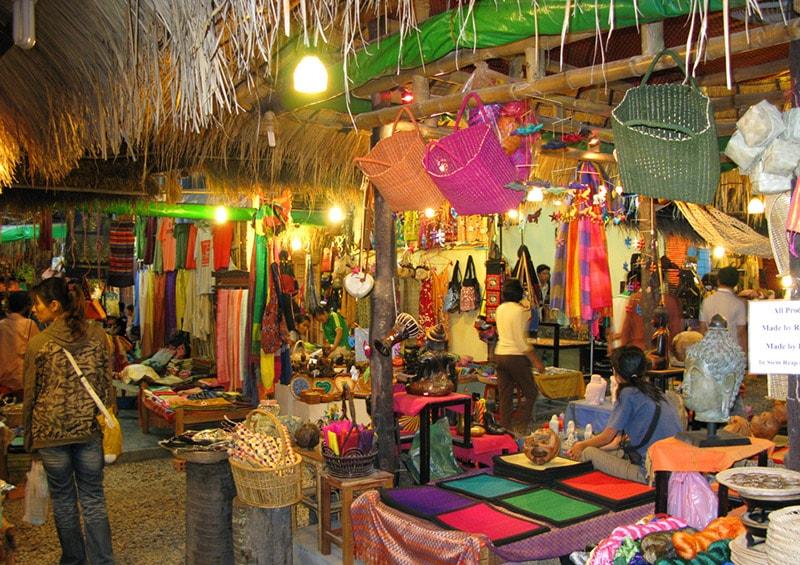 Chợ đêm (Phsa Reatrey) Phnom Penh Campuchia
