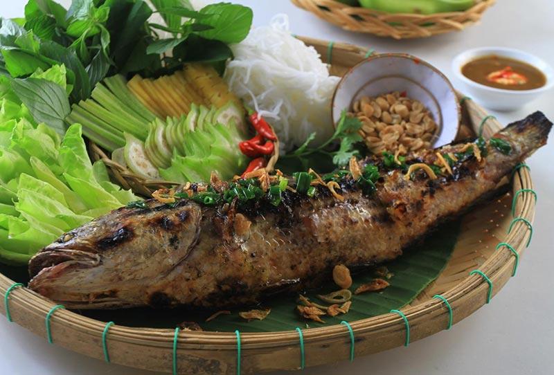 Cá lóc nướng trui An Giang