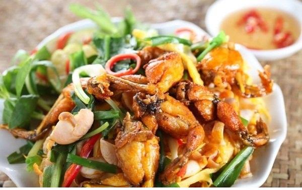 Các món ăn từ ếch đồng Đồng Tháp