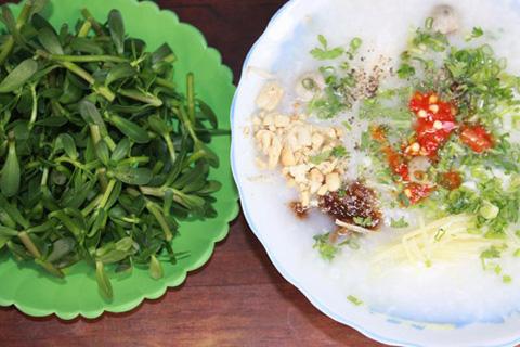 Cháo cá lóc rau đắng Tiền Giang