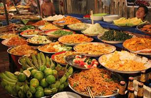 Ẩm thực chợ đêm Luang Prabang
