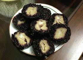 Bánh chưng đen Mường Lò Yên Bái