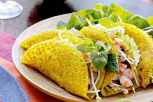 Bánh xèo gạo lứt Quảng Bình