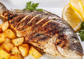 Cá tráp biển nướng muối Cô Tô