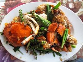 Kdăm Chaa (cua chiên) Campuchia