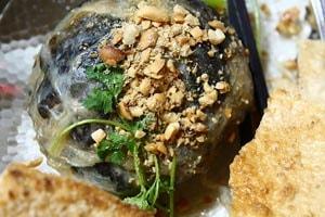 Lươn đùm bọc mỡ chài Nha Trang