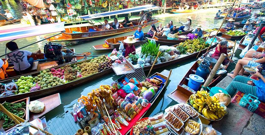 Chợ nổi Damnoen Saduak - Thái Lan