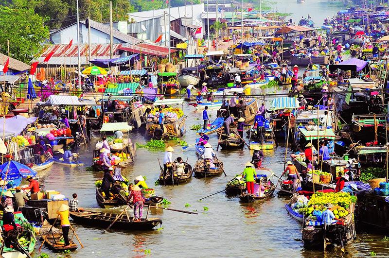Chợ nổi Phụng Hiệp - Việt Nam