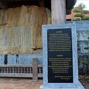 Bia Lê Lợi và đền thờ vua Lê