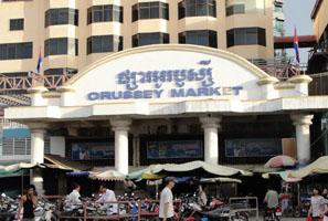 Chợ Orussey Phnom Penh Campuchia